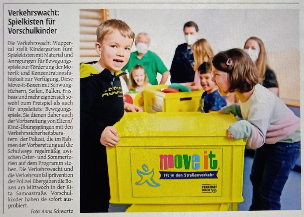 Verkehrswacht Wuppertal - Spielkisten für Vorschulkinder