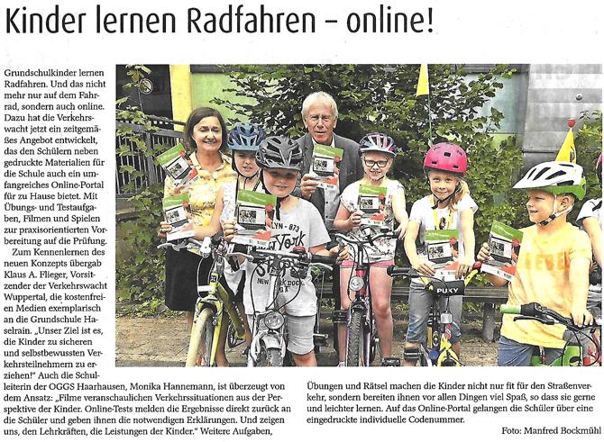07.2018 – Kinder lernen Radfahren – online!